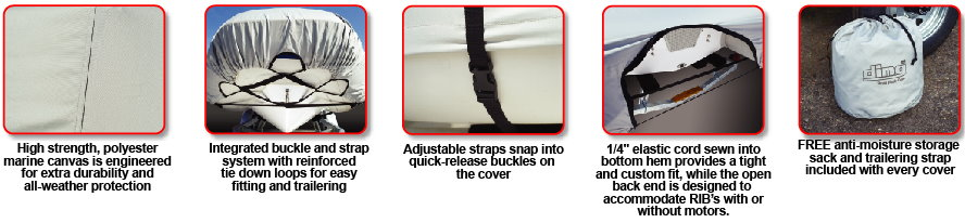 Dinghy Cover Features